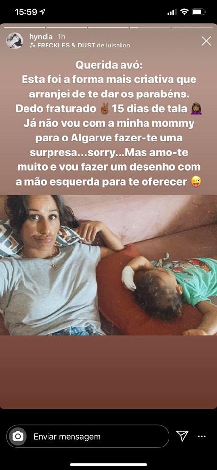 """Lonô, filho de Rita Pereira fracturou o dedo: """"15 dias de tala"""""""