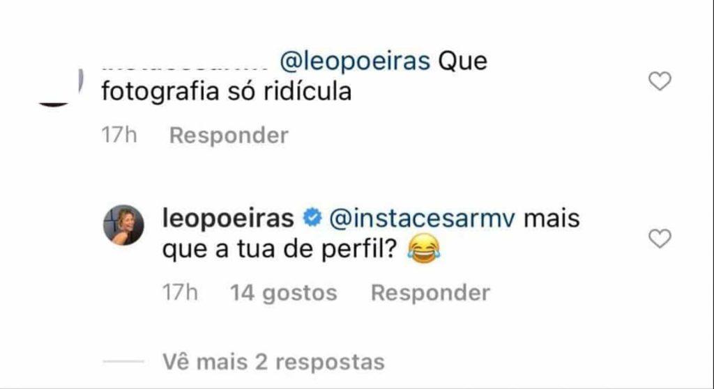 "Leonor Poeiras ""passa-se"" e troca insultos com seguidor"