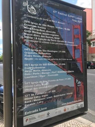 """Festival de música Estoril Lisboa troca imagem da Ponte 25 de Abril pela Ponte """"Golden Gate"""" no cartaz do evento"""
