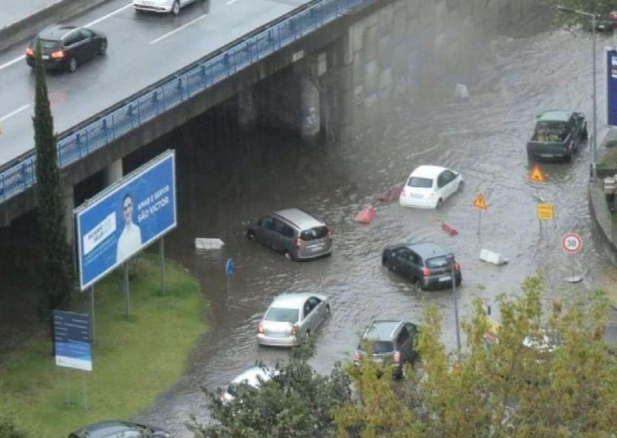 Chuva forte provocou o caos em Coimbra, Braga e Castelo Branco (fotos)
