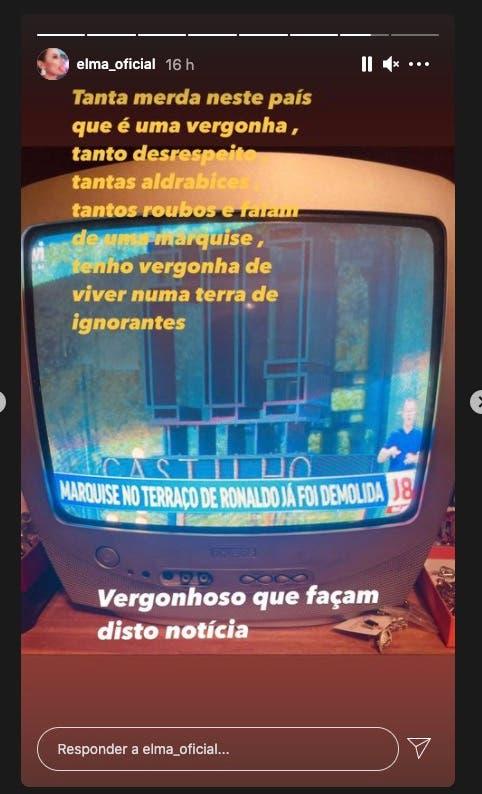 Elma Aveiro revoltada com notícia da TVI