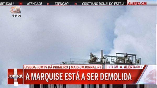 Cristiano Ronaldo já destruiu marquise do seu apartamento em Lisboa